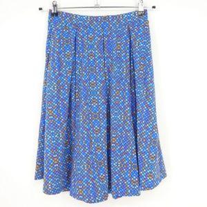 LuLaRoe Madison Blue Knee Length Skirt  (Q8)